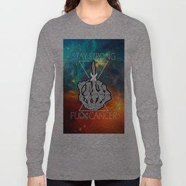 Fuck Cancer - Brain Cancer - Skull Hand  Long Sleeve T-shirt