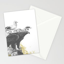 the watchers 3 B+W Stationery Cards