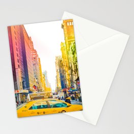 Colors of New York City Downtown Manhattan Stationery Cards