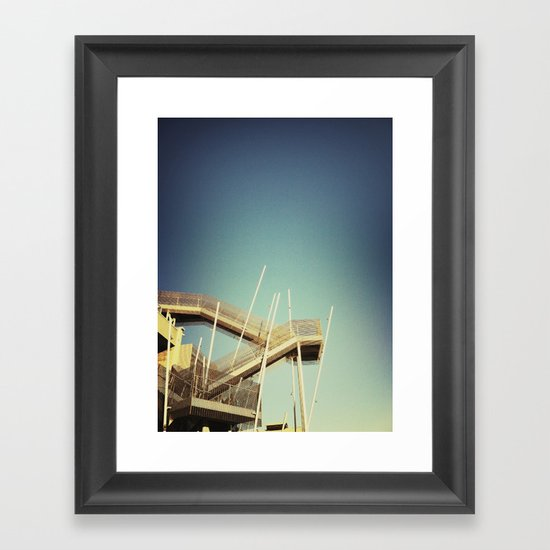 Industrial Stairs Framed Art Print