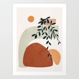 Soft Shapes I Art Print