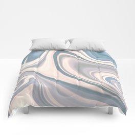 Blue Swirl Marble Comforters