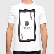 Be Thyself Mens Fitted Tee White SMALL