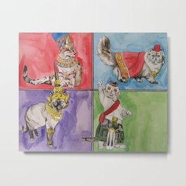 Cats from Around the World Metal Print