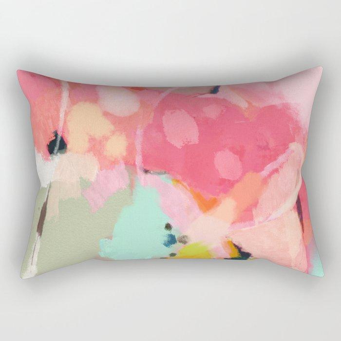 spring moon earth garden Rectangular Pillow