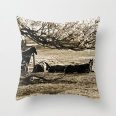 Early Still Throw Pillow