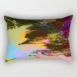 Hideyacko - Abstract Colorful Batik Camouflage Tie-Dye Style Pattern Rectangular Pillow