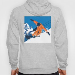 Snowboard Orange Hoody