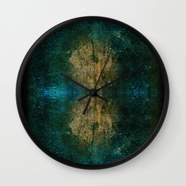 Iron Oxide Dragonfly Wall Clock