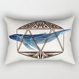 whale in the icosahedron Rectangular Pillow