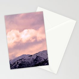 Kenai Mts Bathed in Serenity Rose Stationery Cards