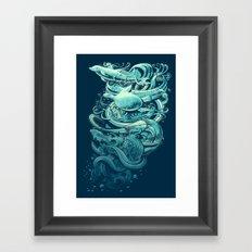 Wave Riders Framed Art Print