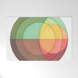 Concentric Circles Forming Equal Areas Welcome Mat