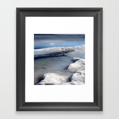 Ice Abstract (Tote Bag) Framed Art Print