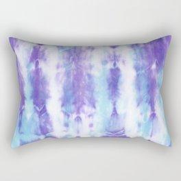 Purple and Blue Tie-Dye Pattern Rectangular Pillow