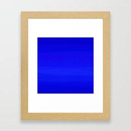 Solid Cobalt Blue - Brush Texture Framed Art Print