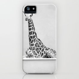 Giraffe In A Bath iPhone Case