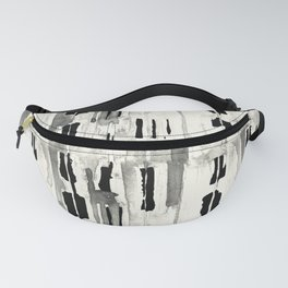 Minimal Black and Cream Abstract Design Fanny Pack