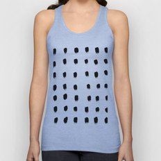 Jacques Pattern - Pure White Unisex Tank Top