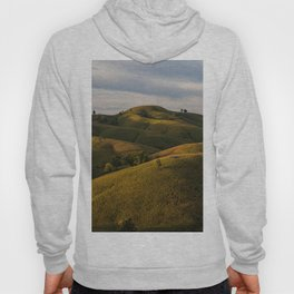 Rolling green Fairytale Hills English Countryside Landscape Hoody