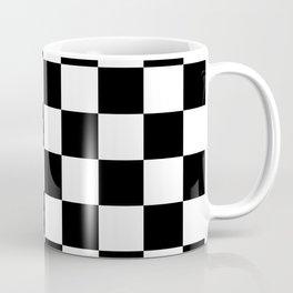 Black & White Checker Checkerboard Checkers Coffee Mug