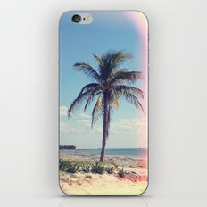 Palm Tree Light Leak Color Nature Photography iPhone & iPod Skin