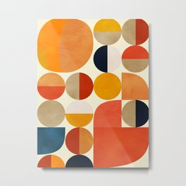 geometric abstract shapes autumn Metal Print