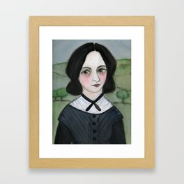 Emily Bronte and her Wuthering Heights Framed Art Print