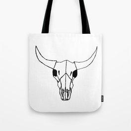 Minimalist Steer Tote Bag