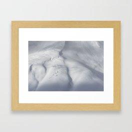 Planet Snow 3 Framed Art Print