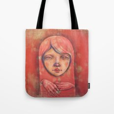 The Ghost in Pink Tote Bag