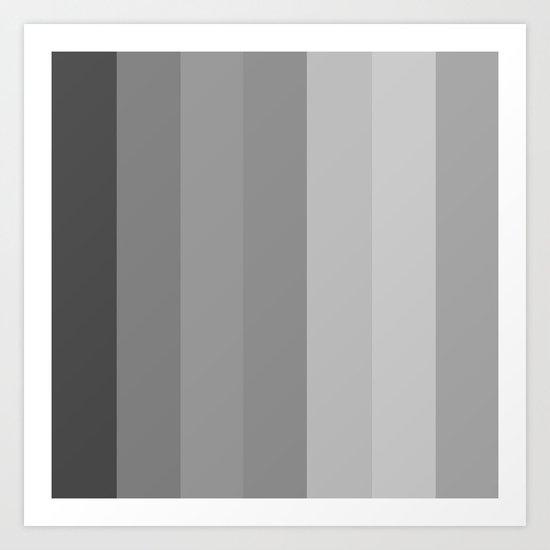 Monochrome Pillars Art Print