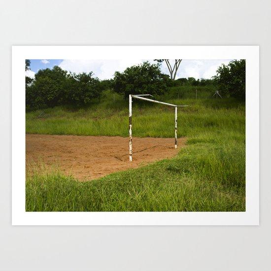 Brazilian Soccer Field Art Print