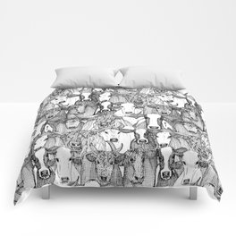 just cattle black white Comforters