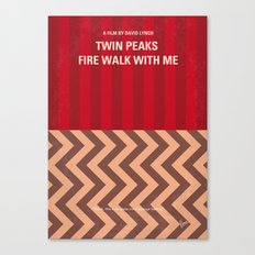 No169 My Twin Peaks minimal movie poster Canvas Print