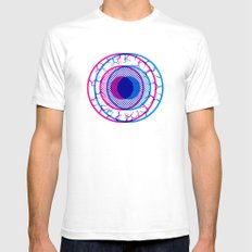 Crosseyed LARGE White Mens Fitted Tee