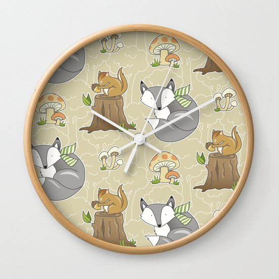 Forest Friends Wall Clock