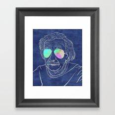Albert wears his sunglasses at night Framed Art Print