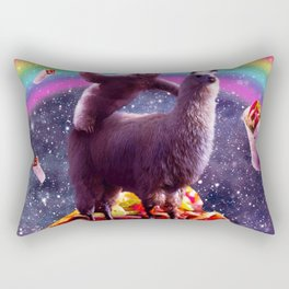 Space Sloth Riding Llama Unicorn - Taco & Burrito Rectangular Pillow