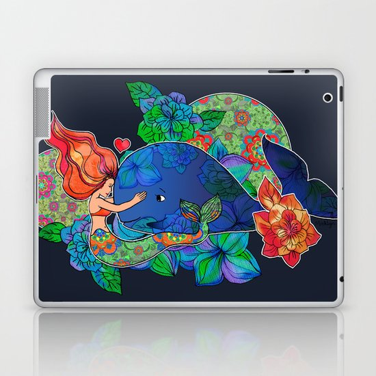 The Mermaid and the Whale Laptop & iPad Skin