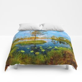 Autumn on the river Comforters