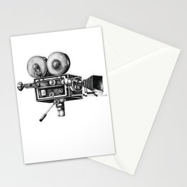 Awesome Distressed Film Video Camera Cameraman  Stationery Cards