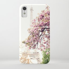 Cherry blossoms in Paris, Eiffel Tower II iPhone Case