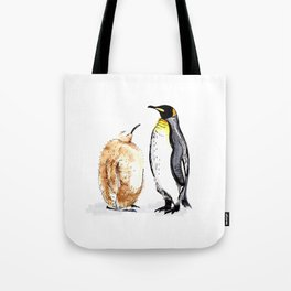 King Penguin and Chick Tote Bag