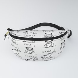 Inhale Exhale Pug Fanny Pack