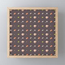 Icing Cookie Pattern_Dark Framed Mini Art Print