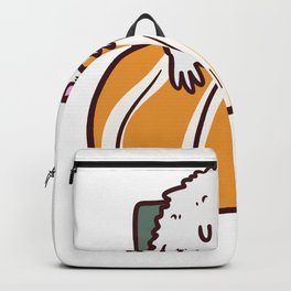 Sushi Bedtime Funny Shirt Cute Backpack