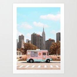 New York Ice Cream Art Print