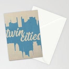 Twins Cities Skylines | Minneapolis and Saint Paul, Minnesota Stationery Cards