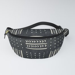 Mud cloth in black and white Fanny Pack